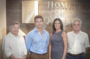 The team at Homes of Quality left to right: Mike Dimbleby, Grahame Salt, Josienne Degaetano & James Stagno Navarra