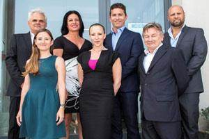 Homes Of Quality team: James Stagno Navarra, Josienne Degaetano, Grahame Salt, Ludwig Farrugia, Marie Claire Formosa, Marcelle Mercieca and Michael Dimbleby